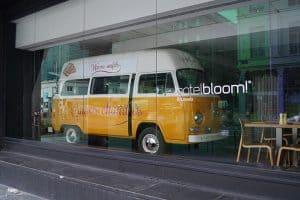 Etalage ontbijtruimte Hotel BLOOM!