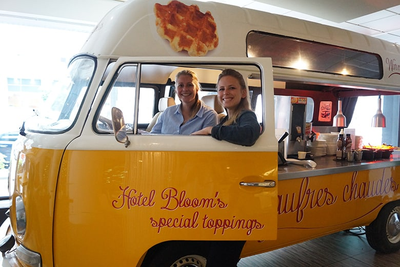 Hotel BLOOM! en hun wafeltruck