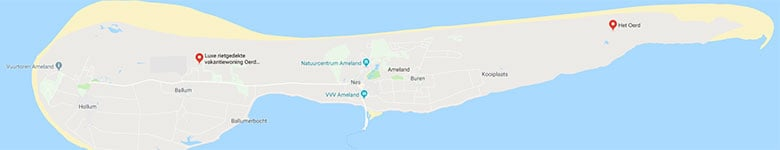 Kaart Ameland