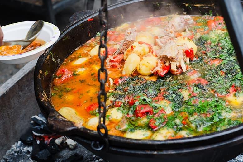 Food festival in de winter