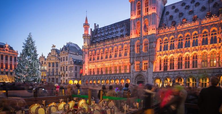 Winterpret in Brussel